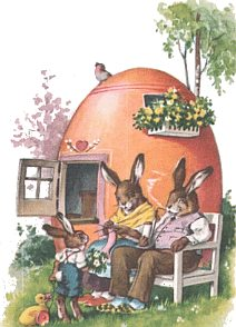 Family of Easter bunnies
